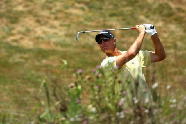 2012年 ボルボゴルフチャンピオンズ 初日 ニコラス・コルサート 「64」のコースレコードをマークし、初日に単独首位に立ったニコラス・コルサート(Richard Heathcote/Getty Images)