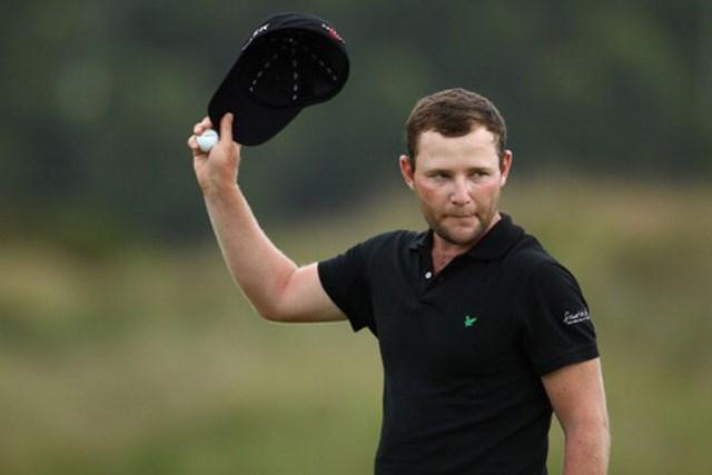 2012年 ボルボゴルフチャンピオンズ 2日目 ブランデン・グレース 首位と4打差の2位TからスタートしたB.グレースが、通算12アンダーまで伸ばし単独首位に立った(Richard Heathcote/Getty Images)