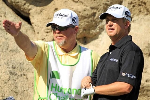 8番でイーグルも飛び出したD.トムズが、初日から首位をキープ!(Scott Halleran/Getty Images)