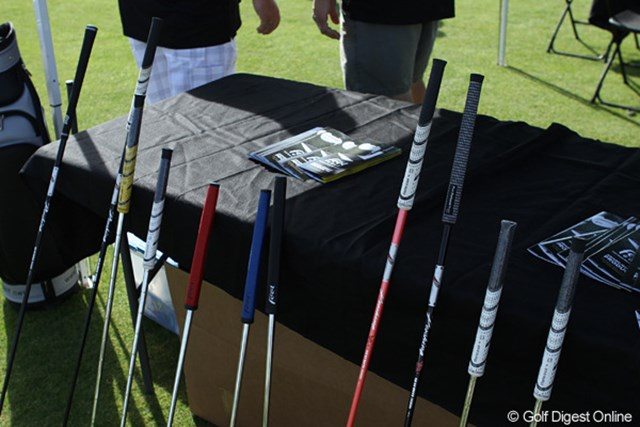 Feel Golf社の提供するFull Release Grip。クラブのヘッドスピードを上げる効果があるとのこと