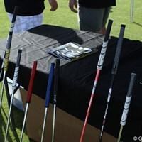 Feel Golf社の提供するFull Release Grip。クラブのヘッドスピードを上げる効果があるとのこと 2012年 PGAショー デモDay Full Release Grip