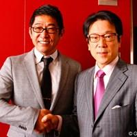 担当の平田教授(右)も納得の論文発表を終えた金子柱憲 2012年 金子柱憲が修士論文を発表