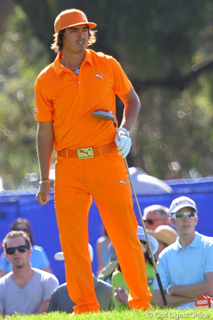 今週は4日間とも、どこかしらにオレンジのウェアをまとってプレーしたリッキー・ファウラー