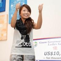 通算イーブンパーで逆転優勝を果たした林綾香 2012年 グアム知事杯 最終日 林綾香