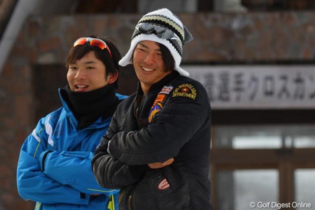 毎年恒例となった石川の雪上合宿。米ツアー参戦の合間を縫って、意欲的にトレーニングを行う