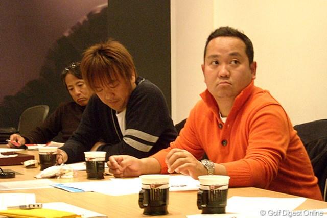 関さん、鹿又さん、金谷さんの特別テスター3人衆。慎重にクラブ評価を行う。