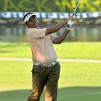 2位に3打差をつけ、単独首位で決勝ラウンドを迎えるM.ママット (画像提供/アジアンツアー) 2012年 ICTSIフィリピンオープン 2日目 マーダン・ママット