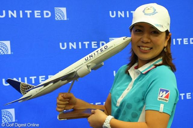 世界最大規模のユナイテッド航空と契約した宮里美香。「モチベーションは高くなっています」