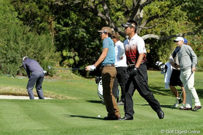 米ツアーメンバーのB.ハースらと練習ラウンドを行った石川遼 2012年 ノーザントラストオープン 石川遼、池田勇太 ビル・ハース
