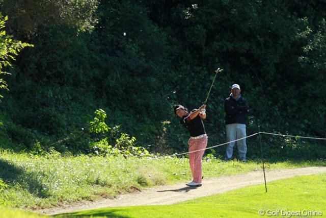 強風にも翻弄されて我慢のゴルフが続く。大目標はマスターズ出場だ