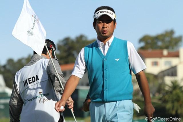2日間で通算12オーバーと崩れ、予選落ちが確定した池田勇太