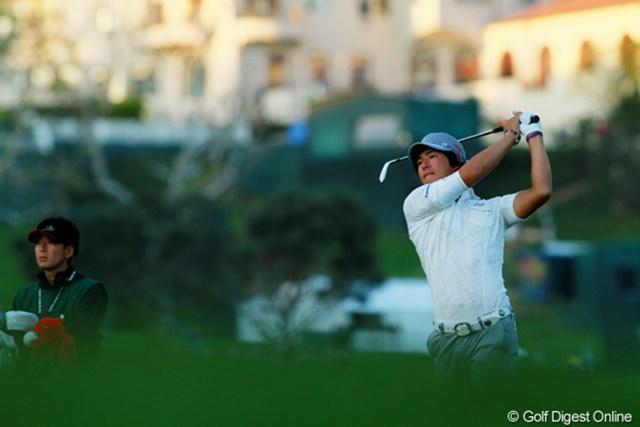 2012年 ノーザントラストオープン 2日目 石川遼 最終組の石川遼は夕闇迫る中、粘りのゴルフを続けた