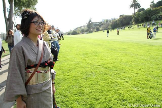 2012年 ノーザントラストオープン 最終日 白川貴衣さん ロスに留学中で、ホストファミリーが誘ってくれて試合を見に来た白川さん。ゴルフは分からないが「ボールが生きてるみたい!」と感動