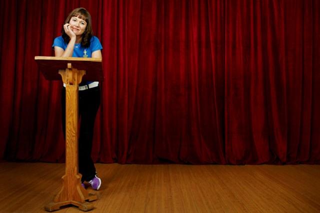 WORLD ソフィー・グスタフソン コンプレックスの原因である吃音。だが彼女は昨年、自らテレビの前で話し出した。(BenVanHook/GW)