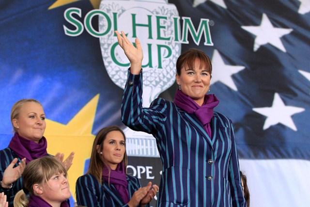 WORLD ソフィー・グスタフソン 欧州チームが制した昨年のソルハイムカップ。グスタフソンにとって、ただの1勝ではなかった。(Getty Images/David Cannon)