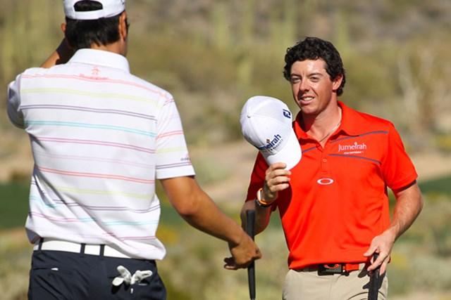 2012年 WGCアクセンチュアマッチプレー選手権 4日目 ロリー・マキロイ ベ・サンムンを破ってベスト4入りを決めたロリー・マキロイ(Andy Lyons/Getty Images)