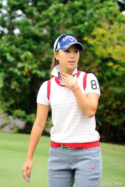 2012年 ダイキンオーキッドレディスゴルフトーナメント 事前 上田桃子 すでに米ツアー2試合を戦い、今週の国内開幕戦を迎える上田桃子
