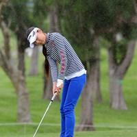 今年は米ツアーでの活躍が期待される金子絢香。予選落ちに終わったが、4年ぶりの日本ツアー参戦を楽しんでいた 2012年 ダイキンオーキッドレディスゴルフトーナメント 2日目 金子絢香