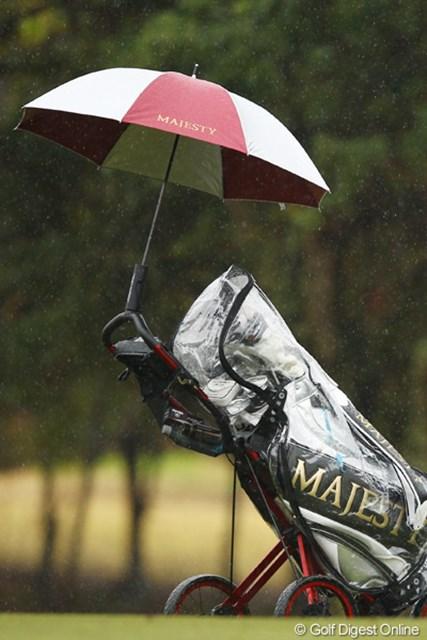 「どうやってこの傘、カートに付いてるんだろう?」不思議です。