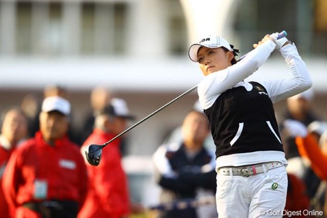 2012年 ヨコハマタイヤゴルフトーナメントPRGRレディスカップ 2日目 原江里菜 ホステスプロとして、今大会初めての予選通過です。ホッとしたことでしょう。