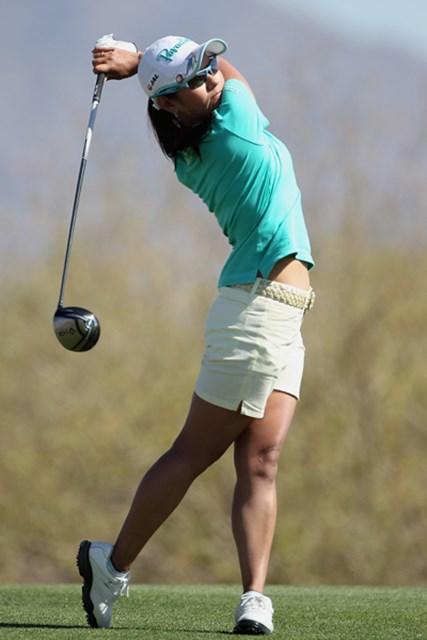 2012年 RRドネリー LPGA ファウンダーズカップ 初日 宮里藍 午後組の宮里藍は3アンダーに満足気な表情をみせる(Scott Halleran/Getty Images)