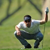 通算8アンダー、混戦から頭1つ抜け出したエドアルド・デラリバ(Stuart Franklin/Getty Images) 2012年 アンダルシアオープン 2日目 エドアルド・デラリバ