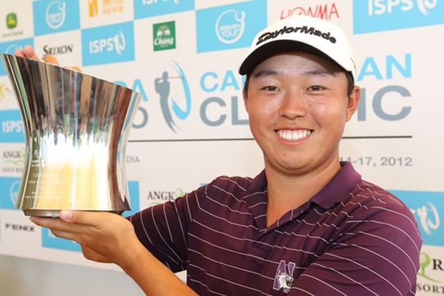 韓国系アメリカ人でツアールーキーのデビッド・リプスキーが3戦目で初優勝。ここでも韓国選手の強さを見せつけた(写真提供:アジアンツアー)