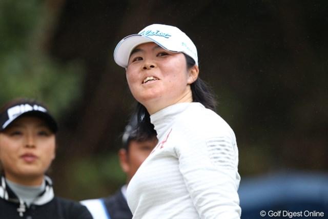 2012年 Tポイントレディスゴルフトーナメント 最終日 不動裕理 不動さん、パー3でピン直撃!