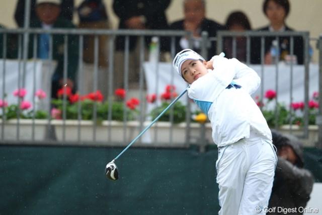 2012年 Tポイントレディスゴルフトーナメント 最終日 大江香織 最終日に1つ落とし、通算3アンダーの8位タイに終わった大江香織。ツアー初優勝ならず