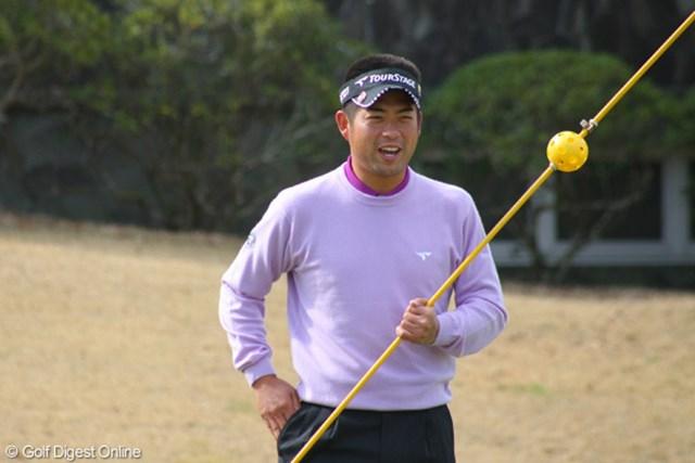池田勇太はこの日、時差ボケも感じさせず、参加者に細やかな気を配りながら、終始笑顔でプレーをしていた