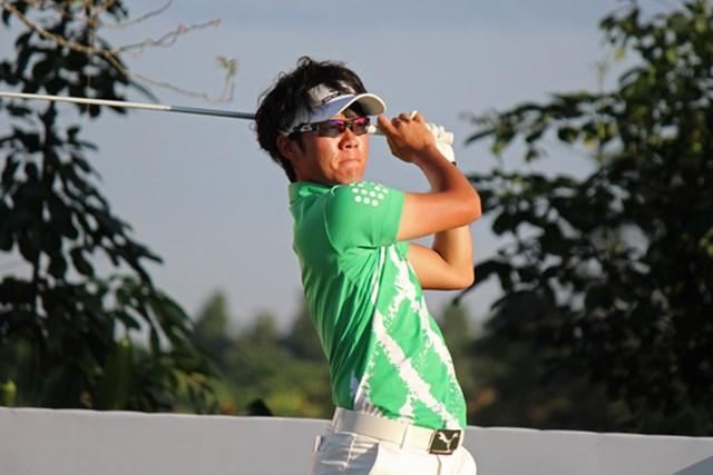 プロ転向後の海外ツアー初戦となる浅地洋佑は、3オーバーで初日を終えた ※写真提供:日本ゴルフツアー機構