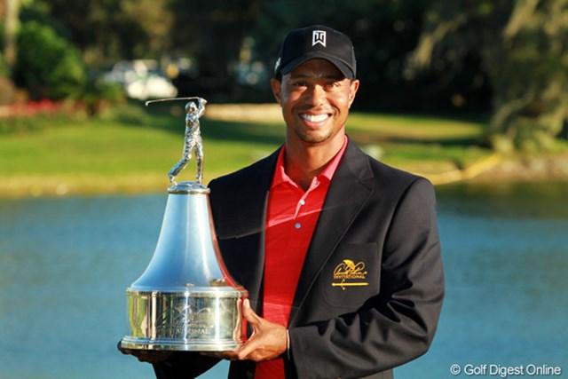 2009年大会以来、通算7度目の同一大会制覇を果たしたタイガー・ウッズ