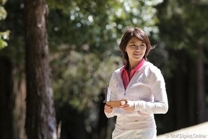 「コースが難しかったぁ」と話す鈴蘭ちゃん、最後まで笑顔で頑張っていました サマンサタバサ ガールズコレクション・レディーストーナメントチャレンジカップ2012 山内鈴蘭