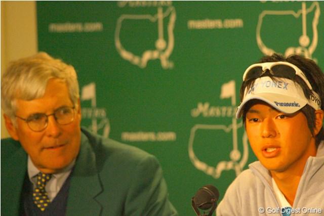"""石川遼""""20歳のマスターズ"""" vol.1 ~2009年 感動の初出場~ 初出場を果たした2009年。公式会見に呼ばれるなど、現地でも注目の存在として迎えられた石川遼"""