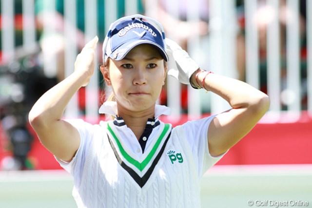 体調不良もすっかり回復。目標とするアンダーパーで初日を終えた上田桃子