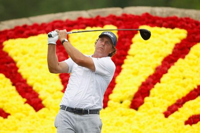 暫定4位タイで予選36ホールを終えたP.ミケルソン。大会連覇への可能性を広げた (Matt Sullivan /Getty Images)