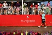 2012年 クラフトナビスコ選手権 3日目 ウォーク・オブ・チャンピオンズを歩くヤニ・ツェン