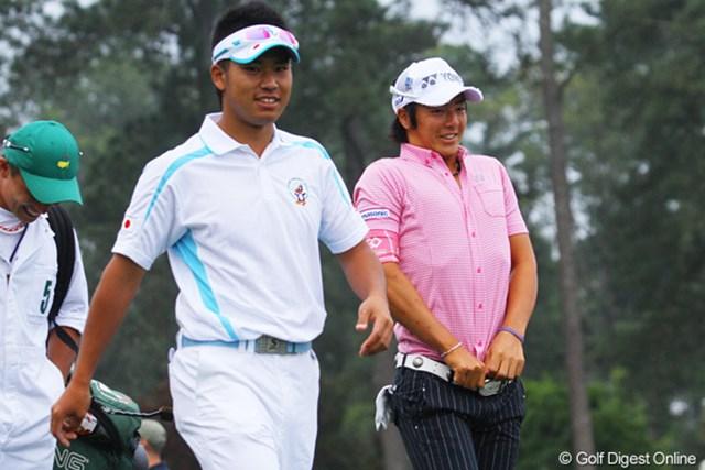 石川遼と松山英樹は3日間連続で一緒に練習ラウンドを行った。