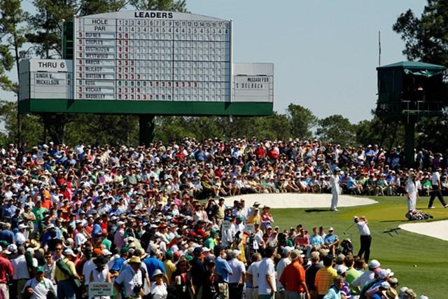 華やかな舞台の裏で、数々の問題がうごめいている。ゴルフ界の枠に収まりきらない影響力の大きさ、それもマスターズ。(Streeter Lecka/Getty Images)