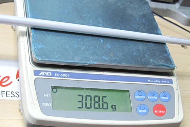 ロイヤルコレクション BBD105Vフォージド クラブ重量は308.6g。バランスはD2。45インチ換算すると310g前後