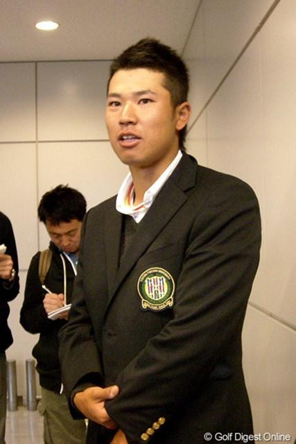 2012年 「マスターズ」帰国会見 松山英樹 11日に帰国した松山英樹。その目は早くも2013年の「マスターズ」に向けられていた
