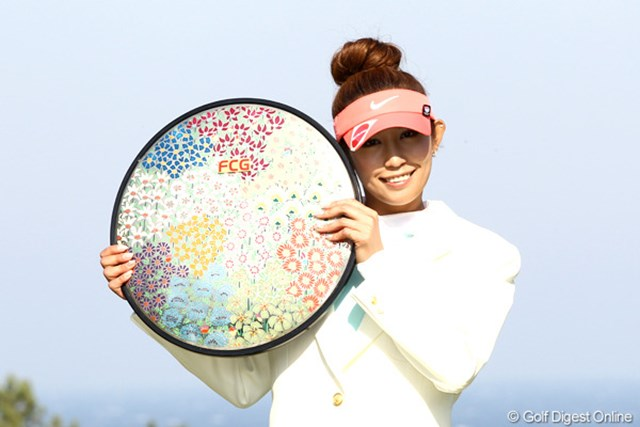 昨年、最終日にスコアを伸ばして逆転でツアー初優勝を果たした金田久美子