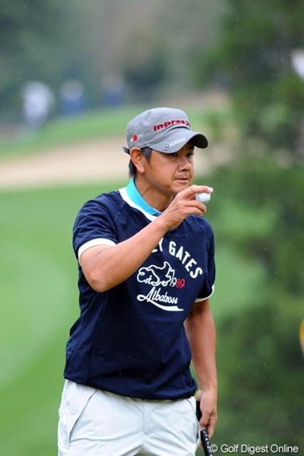 2012年 つるやオープンゴルフトーナメント 2日目 藤田寛之 5バーディ、ノーボギーという完璧なゴルフで首位と1打差の2位タ