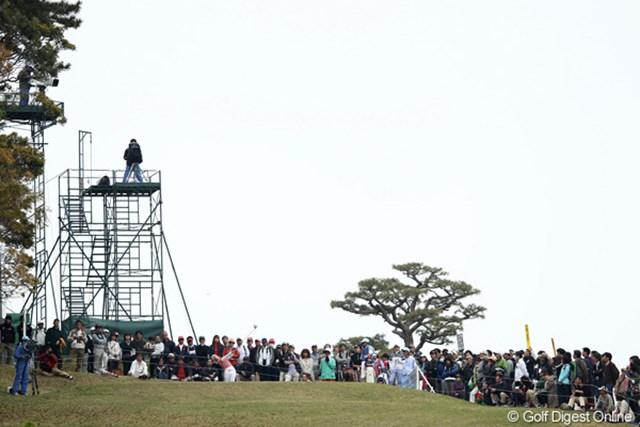 2012年 フジサンケイレディスクラシック 2日目 大江香織 16番T、セカンド地点から撮ってみました
