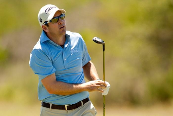 単独首位をキープして最終日を迎えるベン・カーティス(Darren Carroll/Getty Images) 2012年 バレロテキサスオープン 3日目 ベン・カーティス