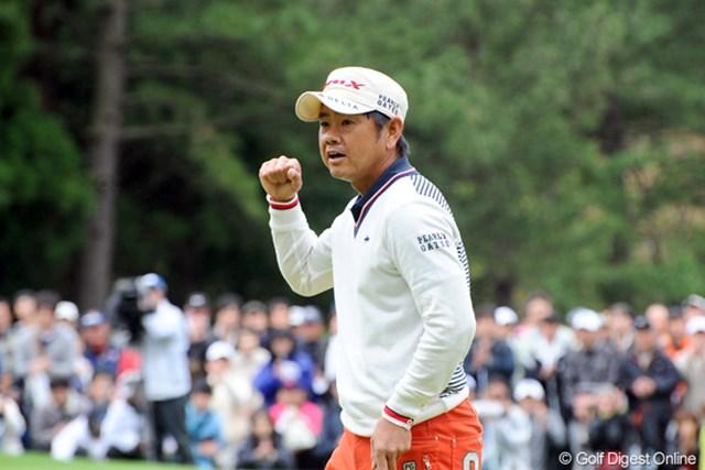 既に勝ち負けは眼中に無いともいえる藤田寛之が、見事な勝利を掴んだ