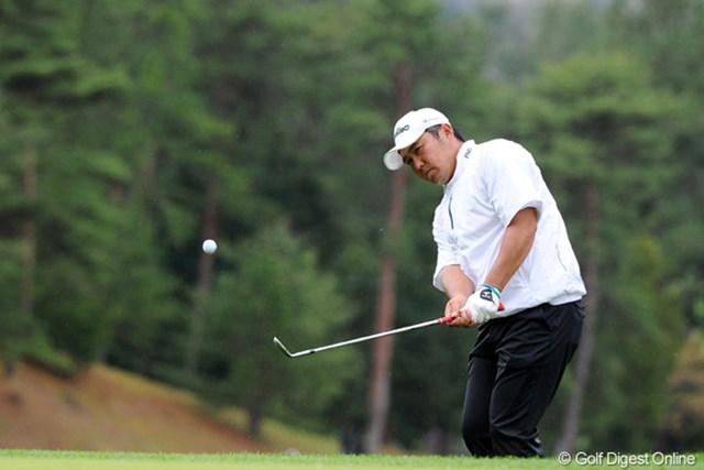 2012年 つるやオープンゴルフトーナメント 最終日 小田龍一 2戦連続で上位フィニッシュ。この勢いで優勝をつかみたい小田龍一