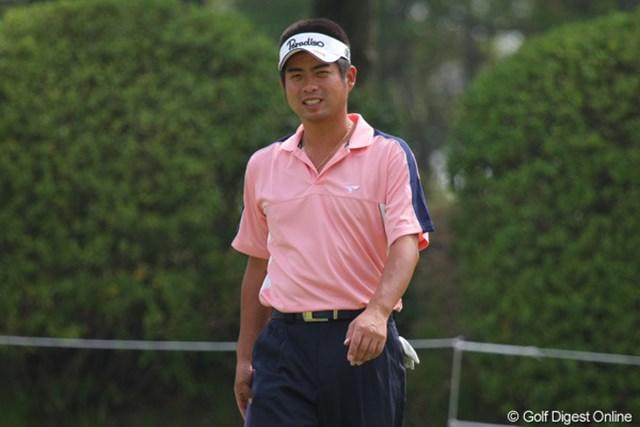 プロアマ戦で笑顔を見せる池田勇太。試合巧者ぶりを発揮すれば、もちろん優勝候補だ