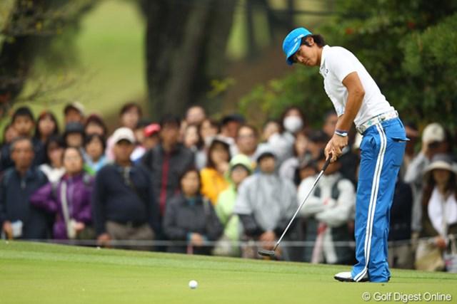 2012年 中日クラウンズ 初日 石川遼 始めて実戦投入した新しいパターも好感触…石川遼は11位タイでスタート