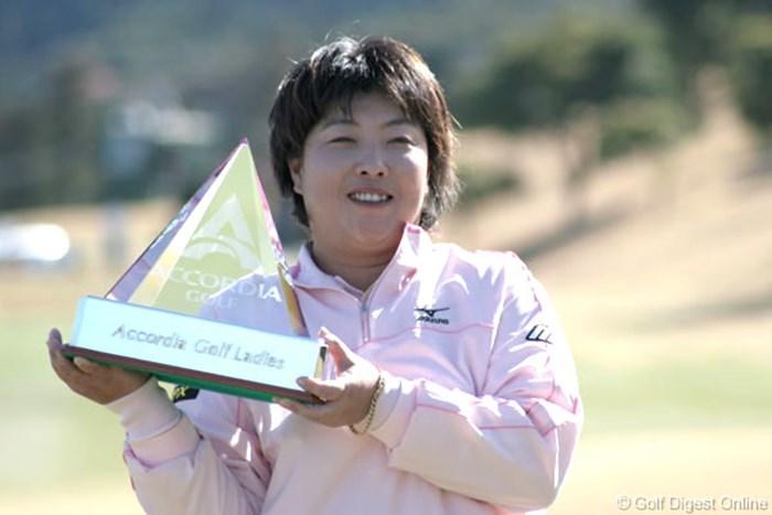 通算10勝目を6打差の圧勝で飾った木村敏美 アコーディア・ゴルフ レディス最終日